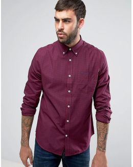 Gingham Dark Regular Fit Check Shirt