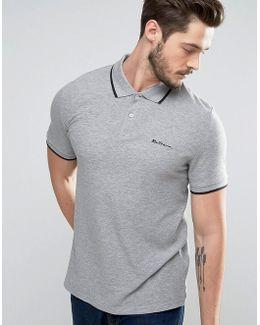 Basic Plain Regular Fit Tipping Polo