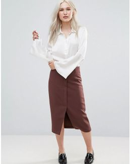 Sylvia High Waisted Wrap Pencil Skirt