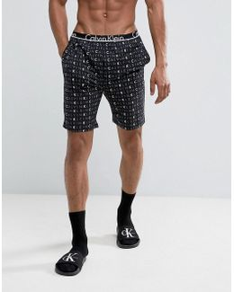 Id Lounge Shorts With Logo Print