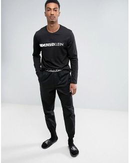Id Woven Joggers With Cuffed Ankle In Slim Fit