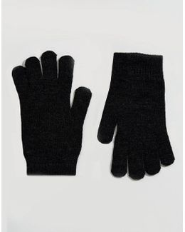 Touch Screen Gloves In Black