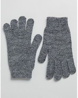 Touch Screen Gloves In Mix Knit