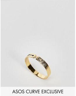 Exclusive Gold Plated Sterling Silver Mystical Engraved Ring