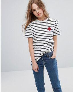 Boyfriend T-shirt With In Stripe