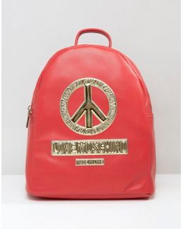 Backpack With Peace Logo