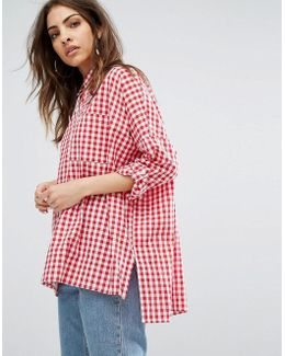 Relaxed Shirt In Gingham