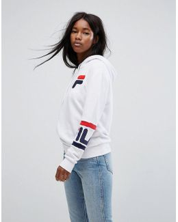 Oversized Boyfriend Hoodie With Chest Logo & Arm Bands
