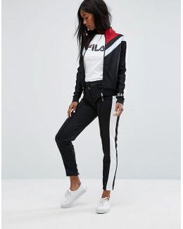 Smart Pannelled Tracksuit Bottoms With Side Contrasts Co-ord