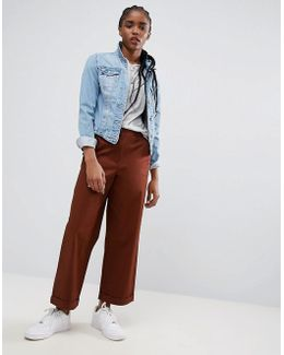 Loose Fit Chino Pants In Rust