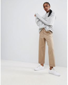 Loose Fit Chino Pants In Sand