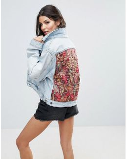 Paisley Back Patch Denim Jacket