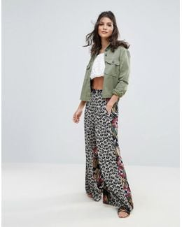 In The Mix Printed Wide Leg Palazzo Pants