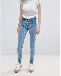 Jute Mid Rise Skinny Jeans