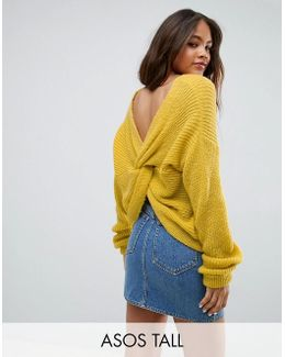 Chunky Jumper Twist Back