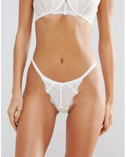 Penny White Thong