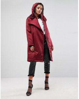 Clean Parka With Flap