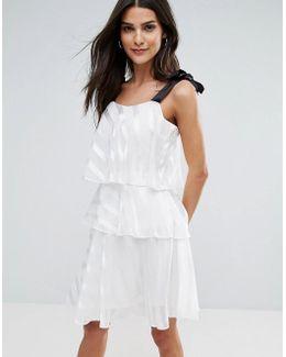 Tiered Tie Strap Mini Dress