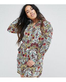 Plus Jungle Floral Shirt Dress