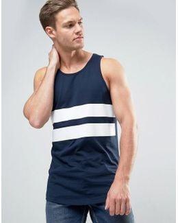Core Vest With Printed Stripe