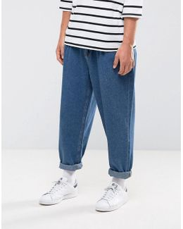 Oversized Jeans In Mid Wash Blue