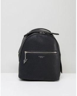 Mini Anouk Black Tumbled Backpack