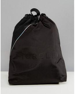Sport Elite Drawstring Gym Backpack In Black