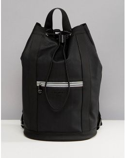 Sport Drawstring Duffle Backpack In Black