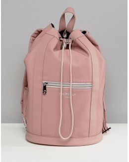 Sport Drawstring Duffle Backpack In Pink