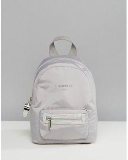 Sport Strike Mini Nylon Backpack In Grey