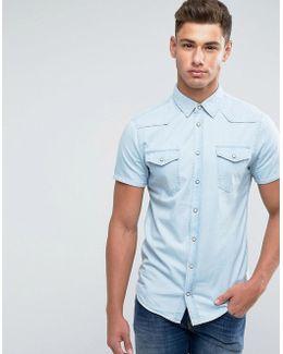 Denim Shirt Short Sleeve