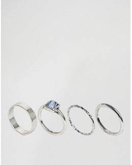 Limited Edition Pack Of 4 Burnished Stone Ring Pack