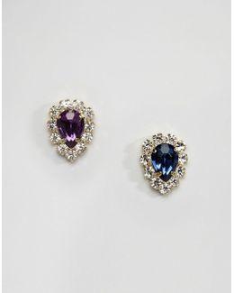 Limited Edition Mismatch Jewel Stud Earrings