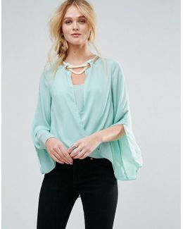 Blouse With Gold Detail