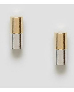 Limited Edition Dual Colour Mini Bar Stud Earrings
