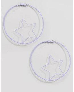 Limited Edition Pastel Open Star Earrings
