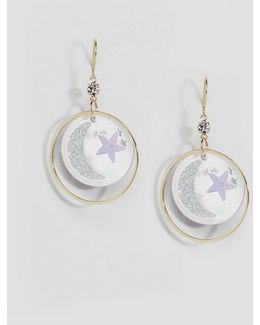 Limited Edition New Moon Sparkle Hoop Earrings
