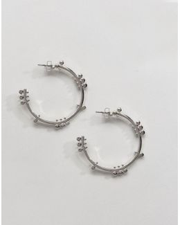 Limited Edition Open Adorned Hoop Earrings