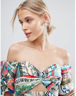 Abstract Open Shape Earrings