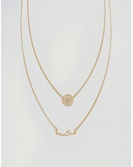 Ditsy Filigree Multirow Necklace