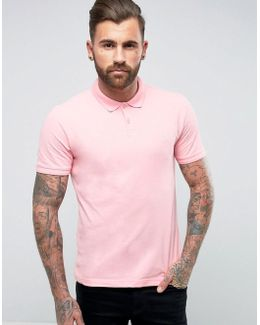 Winston Polo Pique Small Logo Slim Fit In Pink