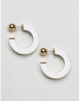 Resin Open Hoop Earrings