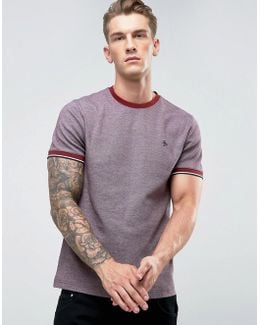 Birdseye T-shirt Small Logo Slim Fit In Dark Red