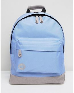 Classic Backpack In Cornflower Blue With Contrast Grey