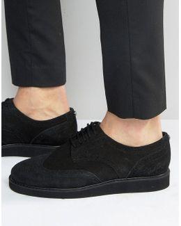Newburgh Suede Brogue Derby Shoes