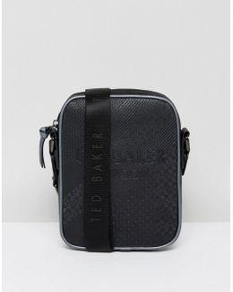 Embossed Flight Bag Heliox In Black