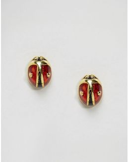 Mini Lady Bird Stud Earrings