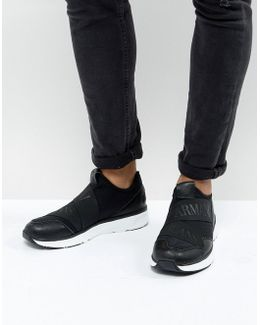 Elastic Runner Sneakers In Black
