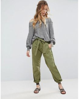 Univ Be Tie Waist Slim Pants