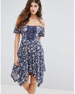 Hanky Hem Floral Dress